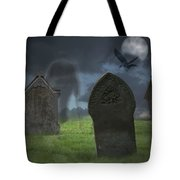 Halloween Graveyard Tote Bag
