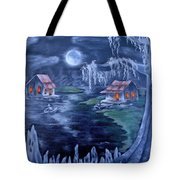 Halloween In The Swamp Tote Bag