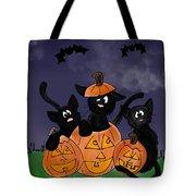Halloween Kittens Tote Bag