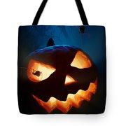 Halloween Pumpkin And Spiders Tote Bag