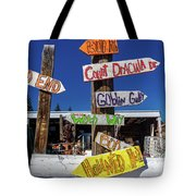 Halloween Signs Pionting In Various Tote Bag