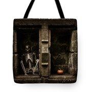 Halloween Skeleton Tote Bag by Amanda Elwell