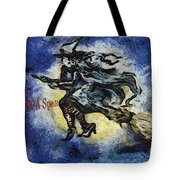 Halloween Stop For A Spell Tote Bag
