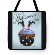 Halloween Treat Witch Cupcake Tote Bag