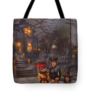 Halloween Trick Or Treat Tote Bag by Tom Shropshire