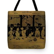 Halloween Trick Or Treaters Patent Tote Bag