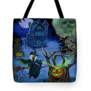 Halloween Witch's Coldron Tote Bag by Glenn Holbrook