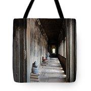 Hallway At Angkor Wat Tote Bag