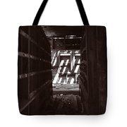 Hallway Of Shelves 2 Sepia Tote Bag