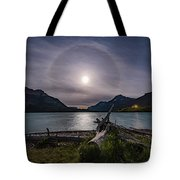 Halo Around The Solstice Moon Tote Bag