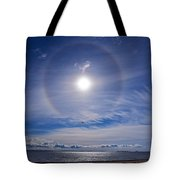 Halo Over  The Sea Tote Bag