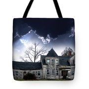 Haloween House Tote Bag by Skip Willits