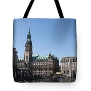 Hamburg - City Hall With Fleet - Germany Tote Bag