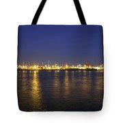 Hamburg Harbor Skyline Tote Bag