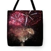 10715 Hamburg Winter Dom Fireworks Tote Bag