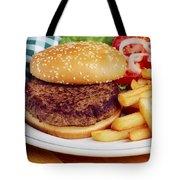 Hamburger & French Fries Tote Bag