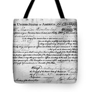 Hamilton: Appointment, 1777 Tote Bag