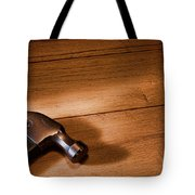 Hammer On Wood Tote Bag
