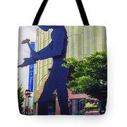 Hammering Man Tote Bag