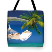 Hammock Palm And Ocean Tote Bag