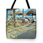 Hammocks And Palapas - Xel-ha Mexico Tote Bag