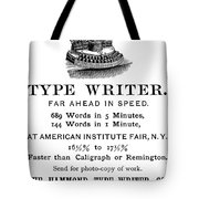 Hammond Typewriter, 1889 Tote Bag