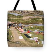 Hampi Bathing Ghats Tote Bag