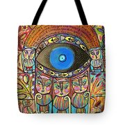 Hamsa Cat Blessing Tote Bag
