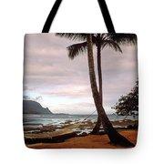 Hanalei Bay Hammock At Dawn Tote Bag