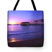 Hanalei Bay Pier Sunset Tote Bag by Brian Harig