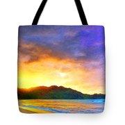 Hanalei Sunset Tote Bag