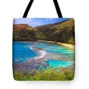 Hanauma Bay In Hawaii Tote Bag