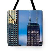 Hancock Building In Chicago  Tote Bag