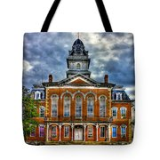 Before It Burned Hancock County Courthouse Art Tote Bag