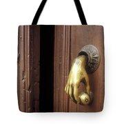 Hand Door Knocker San Miguel De Allende Mexico Tote Bag