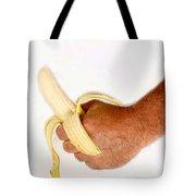 Hand Holding A Banana Tote Bag