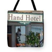 Hand Hotel Tote Bag