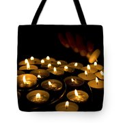 Hand Lighting Candles Tote Bag