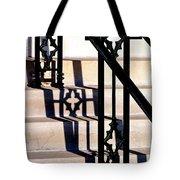 Hand Rail Shadows Tote Bag