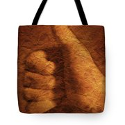 Hand With Thumbs Up Sign Tote Bag