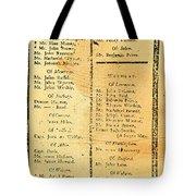 Handbill: Casualties, 1775 Tote Bag