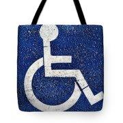 Handicapped Symbol Tote Bag