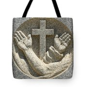 Hands And The Cross Tote Bag