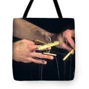 Hands Of A Puppeteer Tote Bag