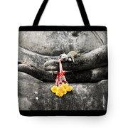 Hands Of Buddha Tote Bag