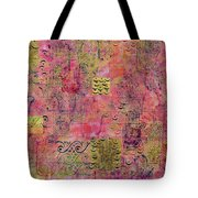 Hands Of Fatima With Crescent Moon And Stars Tote Bag