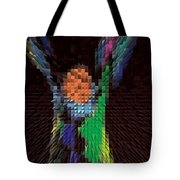 Hands Up Triangle Man Tote Bag
