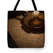 Handwritten Letter By Candle Light Tote Bag