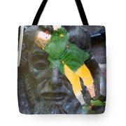 10079 Hang On There Tote Bag