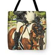 Hang On Tight To Your Painted Horse Tote Bag
